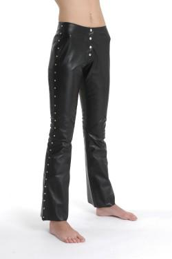 Ledies Leather Studded Trouser S344