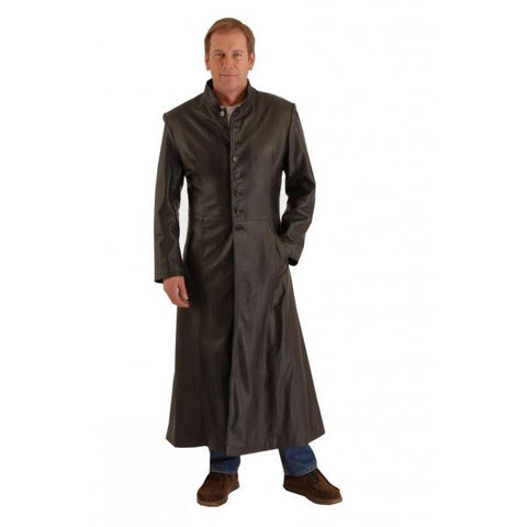 Matrix Full Lenth Coat in Cowhid Leather 156