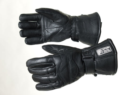 MOTORBIKE WINTER LINNED GLOVES TRIP  LEATHER 100%WATERPROOF 907