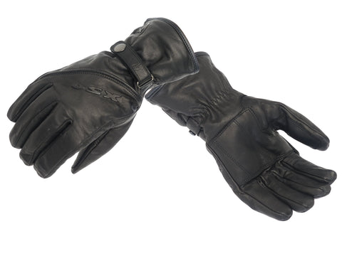 M/C LEATHER GLOVE RAVEN  922