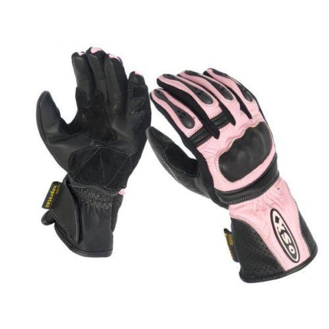 SONIC( LADIES) LEATHER GLOVE-PINK & BLACK 925
