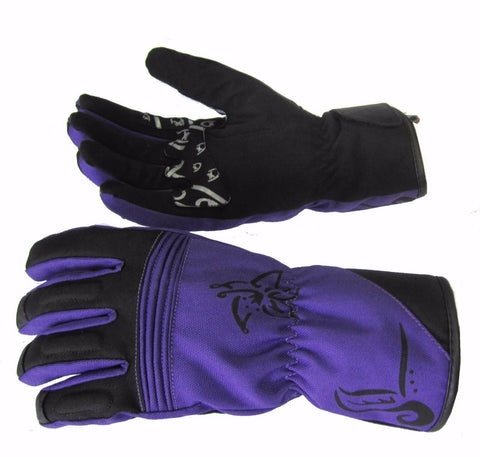 Ladies Women Textile warm Waterproof  (PURPLE &PINK) GLOVE 926