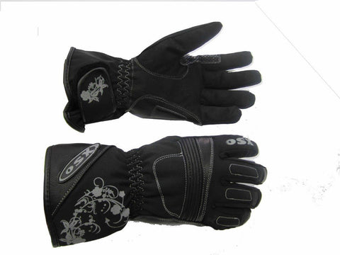 ROSE LADIES TEXTILE LEATHER GLOVE 927