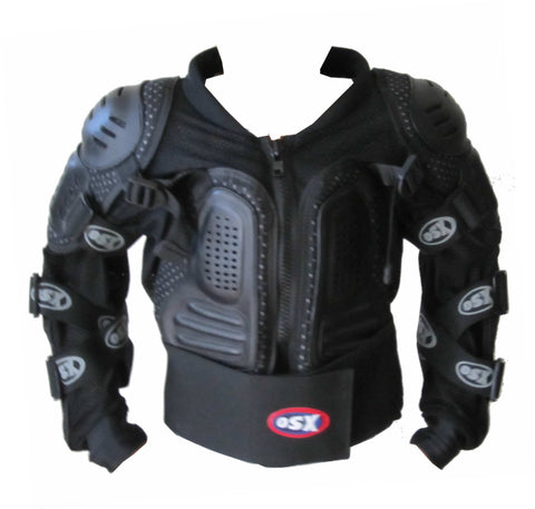 MOTORCYCLE BODY ARMOUR SAFETY JACKET MOTOCROSS MOTORBIKE SPINE PROTECTOR GUARD - KIDS AC092