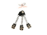 Chopper Bike Chain Vest Extender With Iron Cross Press Stud AC8184T