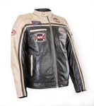 Blouson Biker Sheep Nappa Leather Racer 1166