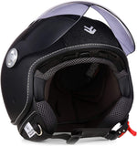 Open Face ARMOR Helmets AV-84 Open Face Helmet, ECE certified, Exclusive Leather-Design, Multicoloured/Glitter