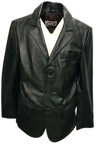 Original OSX New Men Fitted Blazer Leather Jacket