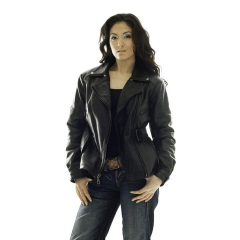 Classic Gypsy woman leather Biker Jacket - Campar - 1101