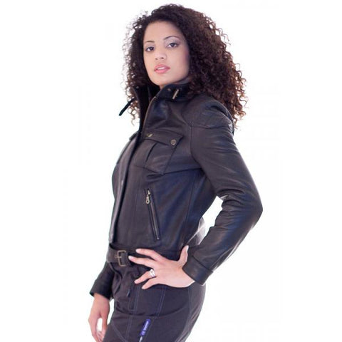 Motor Cycle Biker Leather Jacket Cass 192