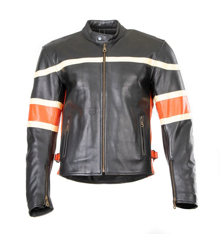Motorcycle Crousir B iker Cowhide Leather jacket Rock 196