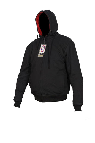 Black Armoured Motor Bike Hoodie