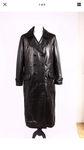 FULL LENGTH LEATHER LONG COAT IN SHEEP NAPPA  3001