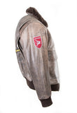 Top Gun Pilot Bomber Fling Aviation Leather Jacket 157