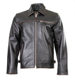 Punk Rock Street Antique Classic Blouson Leather Jacket 117A