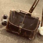 Distressed Venator Leather Collection, Men,Half Flap Messenger / Laptop bag UM40