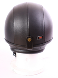 OPEN FACE LEATHER COVERED HELMET