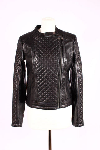 SHORT LADIES LEATHER JACKET IN  SHEEP NAPPA S003