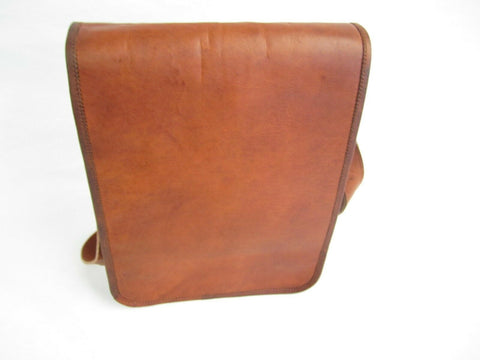 Quality Upright Messenger Bag Real Oil Goat Leather Unisex New Medium SizeVE0037