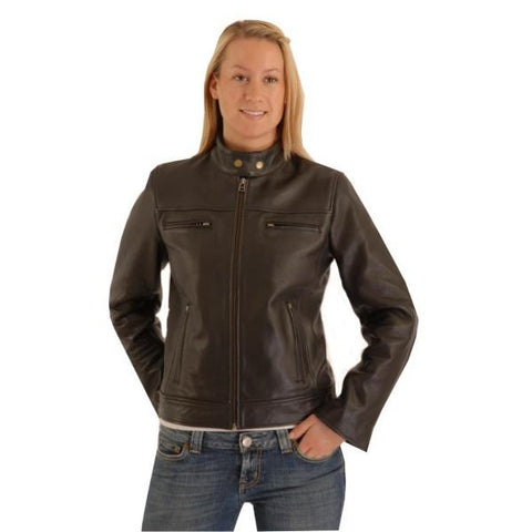 Vespa Ladies Cruiser Biker Cowhide Leather Jacket 163