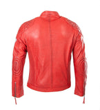 Fashion Biker Leather Jacket Sports Racing in sheep leather Casey 1120