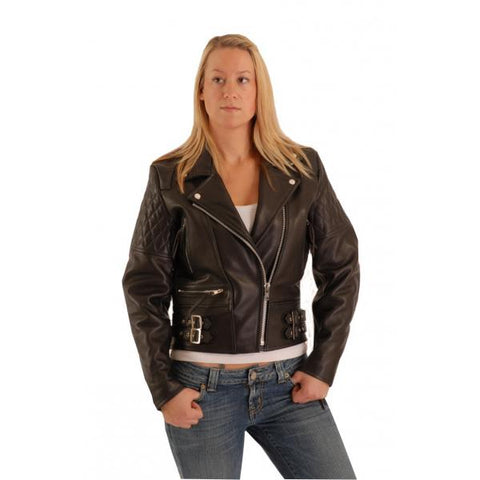 Atlas Biker Women's padded patrol jacket in leather.102