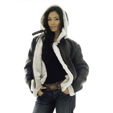 Women Leather Sheepskin Jacket Lapland
