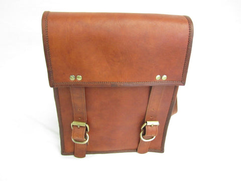 Quality Upright Messenger Bag Real Oil Goat Leather Unisex New Medium SizeVE0023