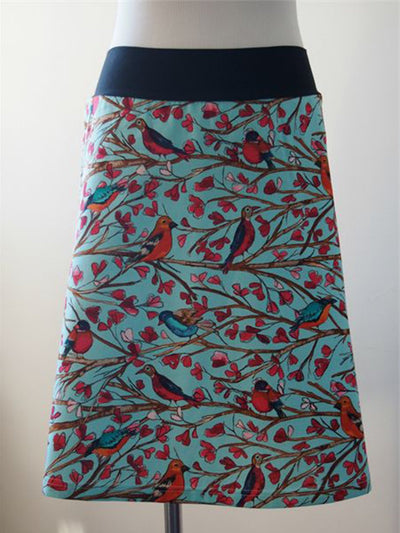 Lake Blue Casual Animal Cotton-Blend Skirts