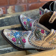 As Picture Floral Embroidered Daily Winter Boots