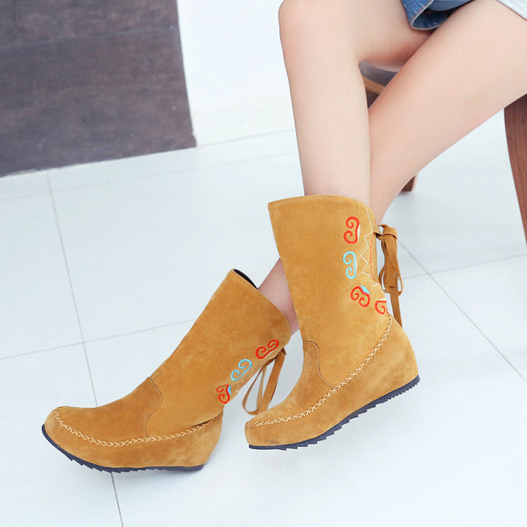 Women Winter Embroidery Daily Boots
