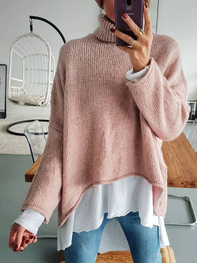 Long Sleeve Turtleneck Shift Sweater