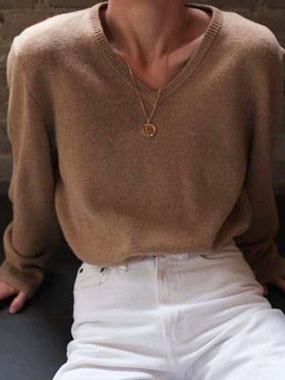 Brown Long Sleeve Shift Shirts & Tops