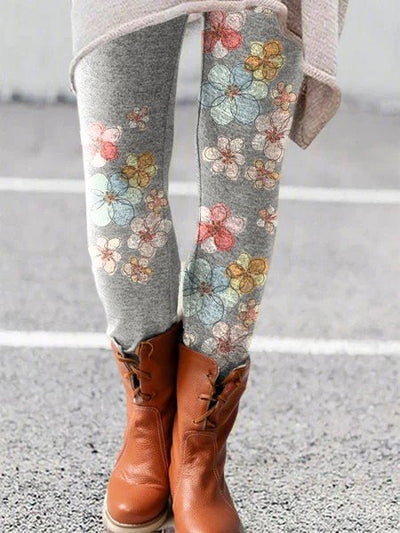 Cotton Floral Pants
