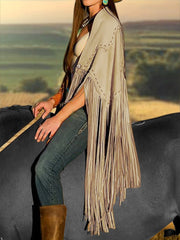 Fringed Casual Outerwear