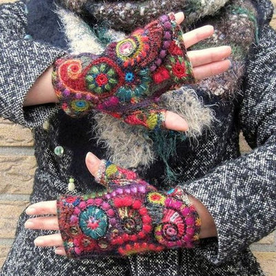 Multicolor Vintage Gloves & Mittens