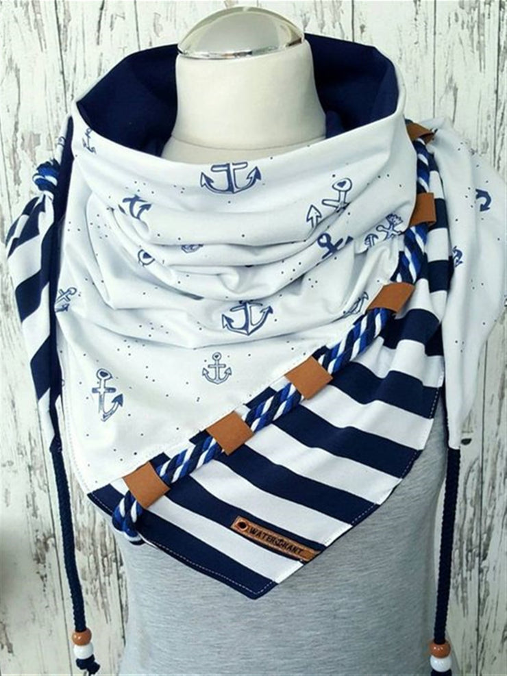 Casual Basic Daily Blue Scarves & Shawls