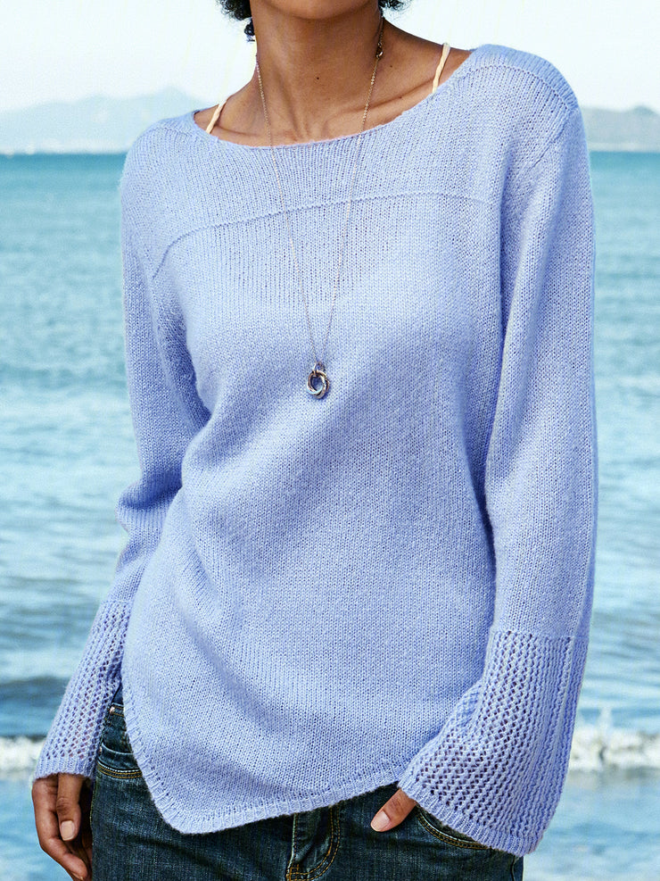 Sky blue women's sweater