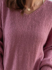 Pink Long Sleeve Shift Sweater