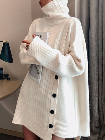Turtleneck Long Sleeve Casual Sweater