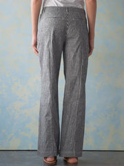 Casual Striped Linen Pants