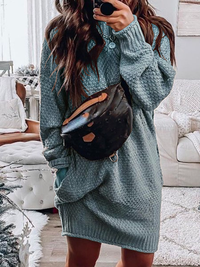 Knitted Long Sleeve Dresses
