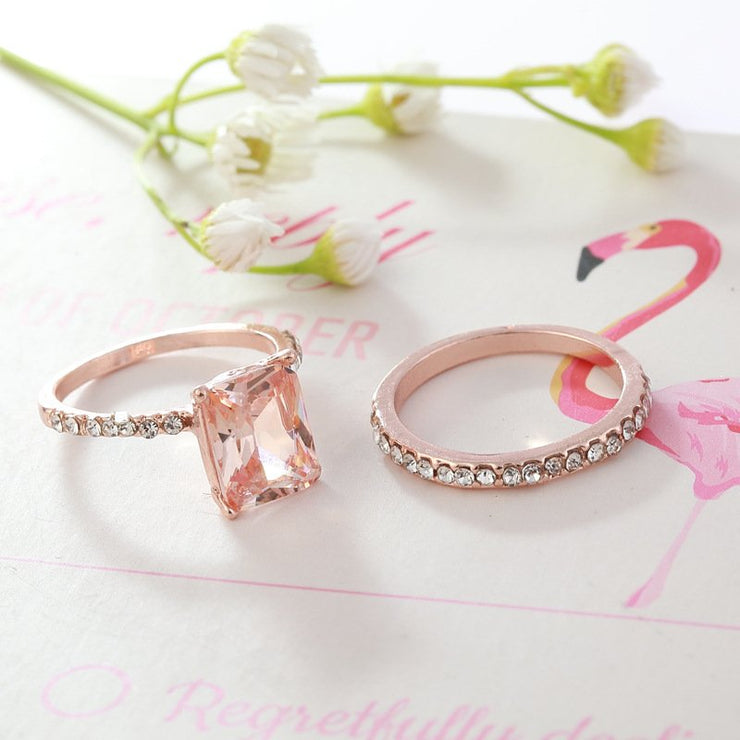 Rose Gold Elegant Alloy Rings