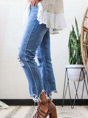 Denim Ripped Casual Pants Jeans