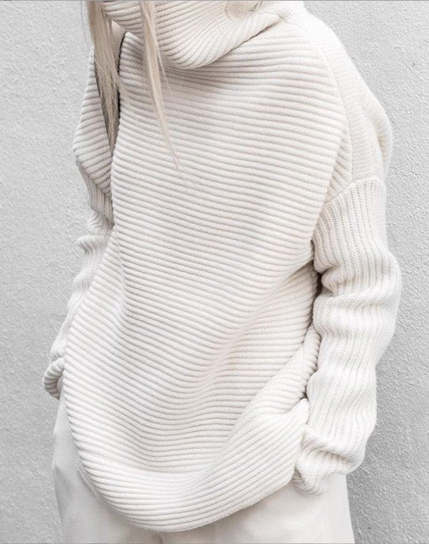 Casual Turtleneck Long Sleeve Shirts & Tops