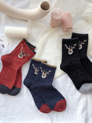 VIintage Casual Christmas Deer Socks