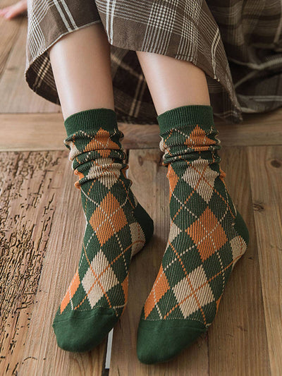 Checkered/Plaid Cotton Casual Underwear & Socks