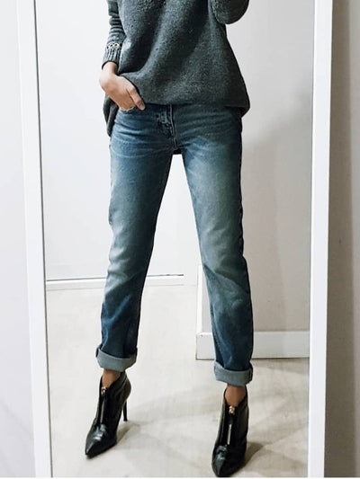 New Fashion Plus Size Casual Denim Plain Pants