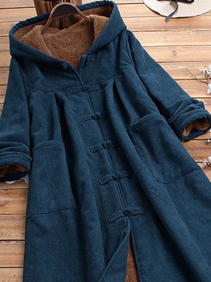 Plain Long Sleeve Shift Hoodie Outerwear