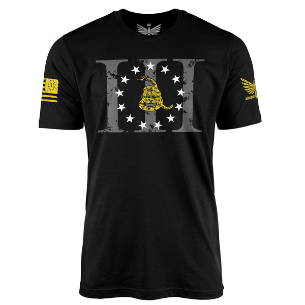 Don't Tread On Me III% - Short Sleeve T-Shirt-Unisex Shirt-Ardent Patriot Apparel Co.